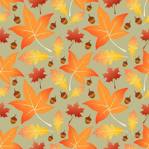 Liście klonu jesień wzór