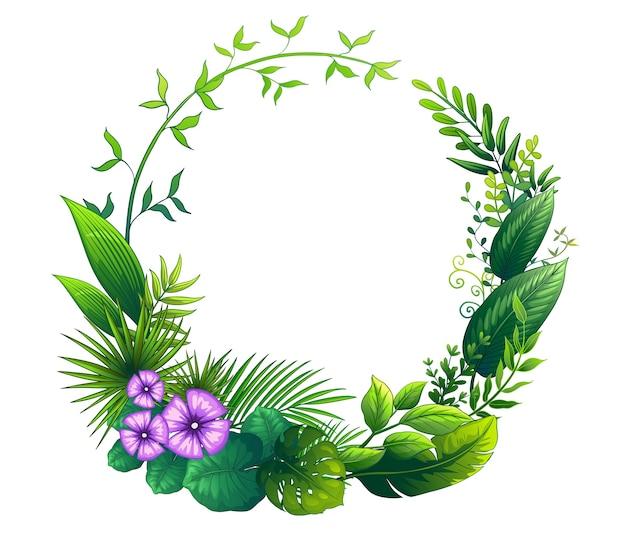 Liście kwiatowy ramki
