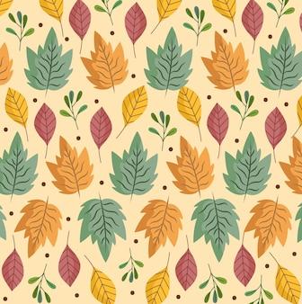 Liście liści zioła liści natura dekoracja tła ilustracji