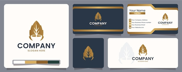 Liście, miska, projekt logo i wizytówka