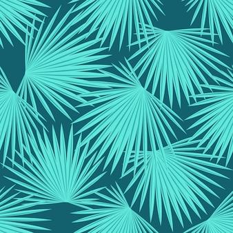 Liście palmy. bezszwowe lato tropikalny wzór.