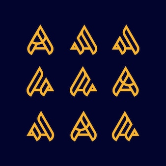 List a zestaw projekt logo