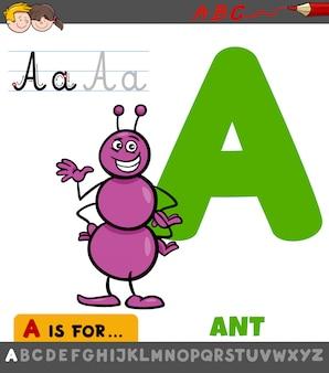 List arkusz roboczy z mrówką z kreskówek