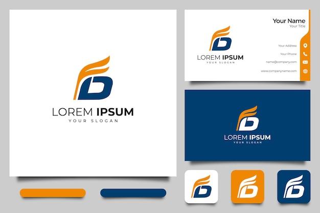 List fd logo kreatywny projekt i szablon wizytówki