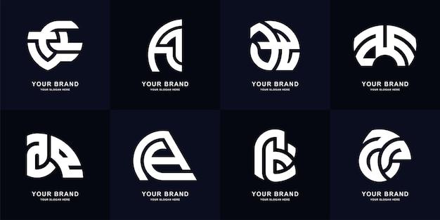 List kolekcji ae lub projekt szablonu logo monogram