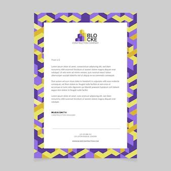 List motywacyjny nowoczesny wzór budowy