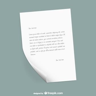 List papieru szablon