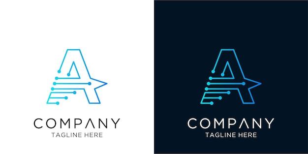 List projekt logo korporacyjna technologia biznesowa w liniowym stylu konspektu