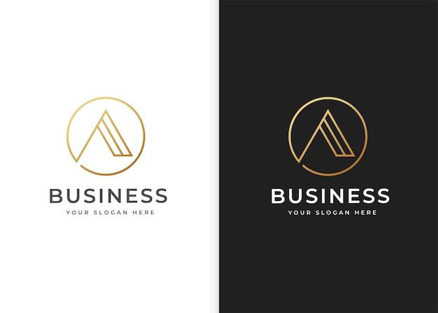 List szablon projektu logo w kształcie koła. ilustracje wektorowe
