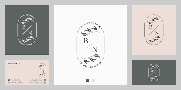 List z botanicznym kwiatowym liści projektowania logo na zaproszenie na ślub, marki, sklep.
