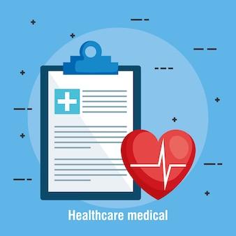 Lista kontrolna opieki zdrowotnej ikon medycznych
