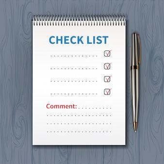 Lista kontrolna szablonów