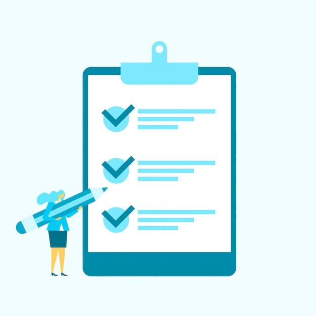 Lista kontrolna zadania płaskim ilustracji