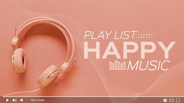 Lista odtwarzania muzyki youtube thumbnail