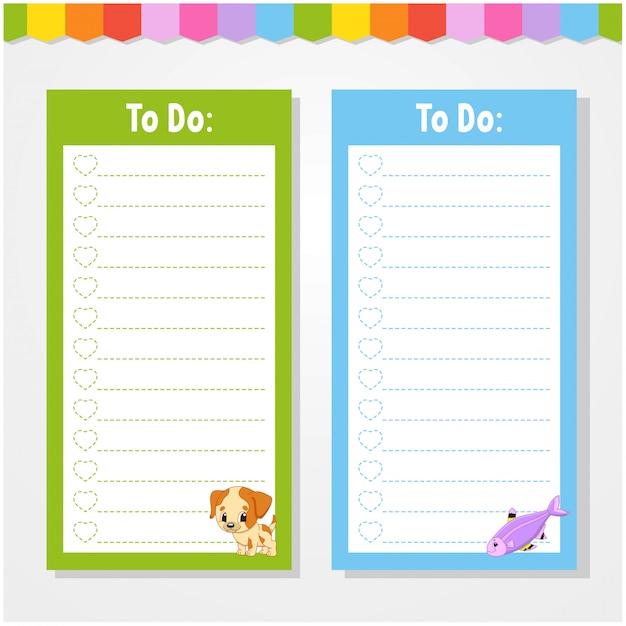 Lista rzeczy do zrobienia dla dzieci.