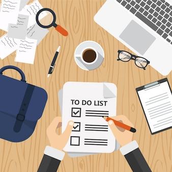 Lista rzeczy do zrobienia koncepcji
