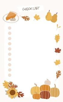 Lista rzeczy do zrobienia na jesień.