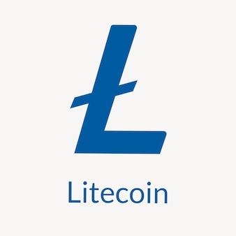 Litecoin blockchain logo kryptowaluty wektor koncepcja finansowania open-source