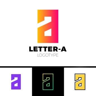 Litera a elementy szablonu projektu ikona logo