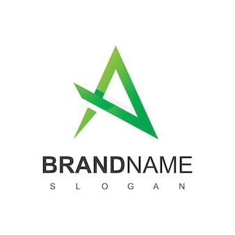 Litera a linia logo natura natural spa szablon projektu logo