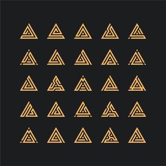 Litera a logo ilustracja pakiet projekt graficzny
