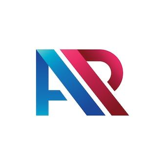 Litera a + r logo wektor, a + p logo wektor