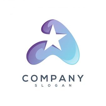 Litera a wektor logo