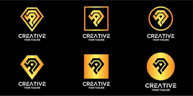 Litera a z luksusowym abstrakcyjnym diamentowym szablonem logo
