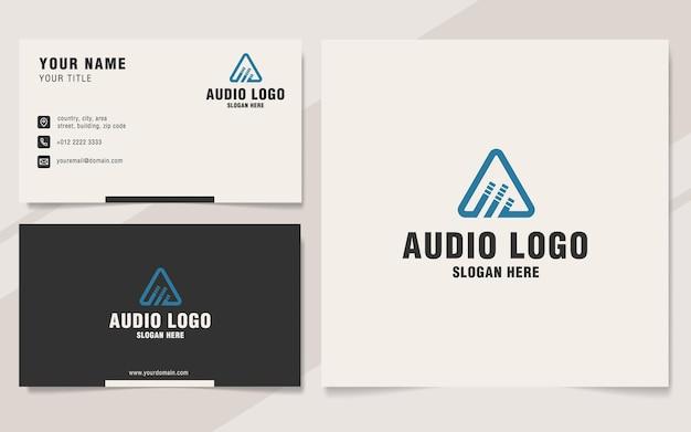 Litera a z szablonem logo audio w stylu monogramu