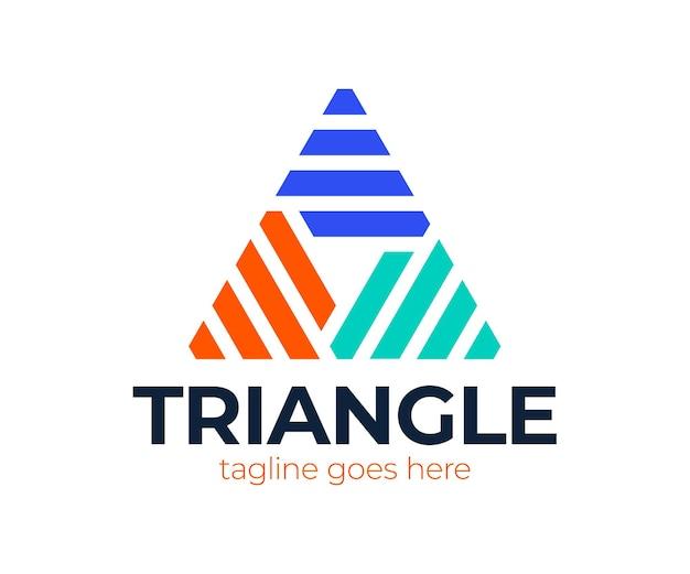 Litera a zamknięta w trójkącie. streszczenie logo w stylu liniowym.