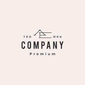 Litera ae początkowe logo vintage hipster
