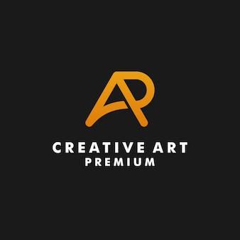 Litera ap logo projekt monogram wektor