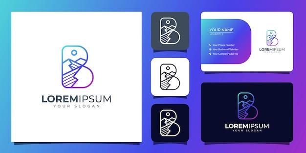 Litera b i logo góry z szablonu wizytówki