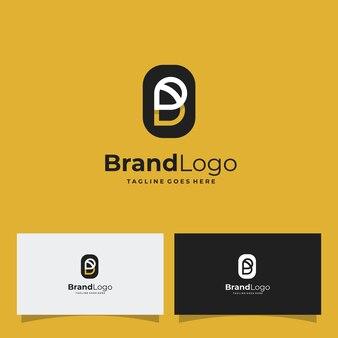Litera b i symbol pszczoły logo projekt vecto