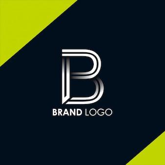 Litera b logo szablon wektor. wektor logo monogram b. wektor symbolu b.
