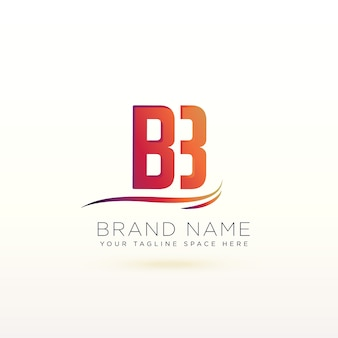 Litera b piękny szablon projektu logo