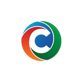 Litera c koło logo wektor