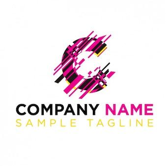 Litera c z paskami logo