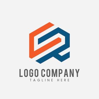 Litera cr logo. cr ikona koncepcja streszczenie.