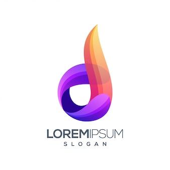 Litera d inspiracja projektowanie logo gradientu