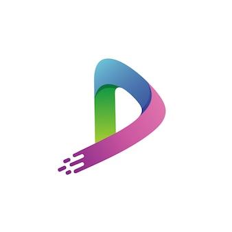 Litera d logo wektor