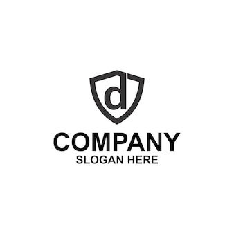 Litera d tarcza logo premium