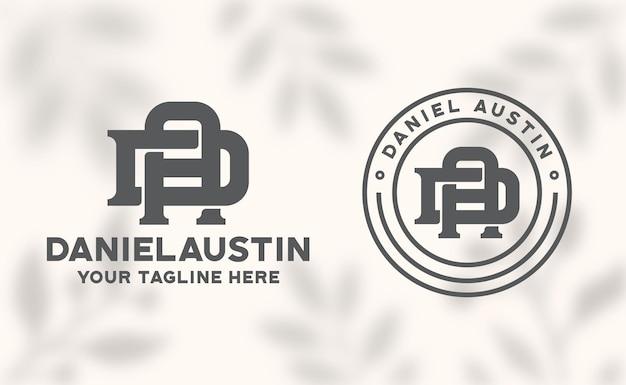 Litera da monogram logo szablon