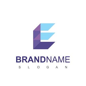 Litera e server logo design vector