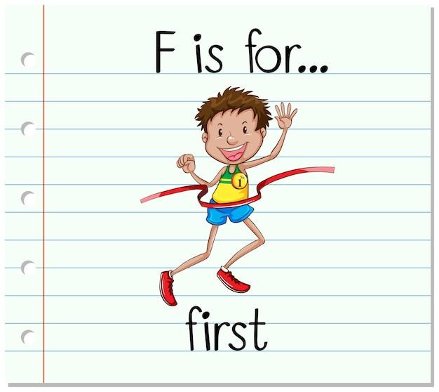 Litera f na fiszce jest pierwsza