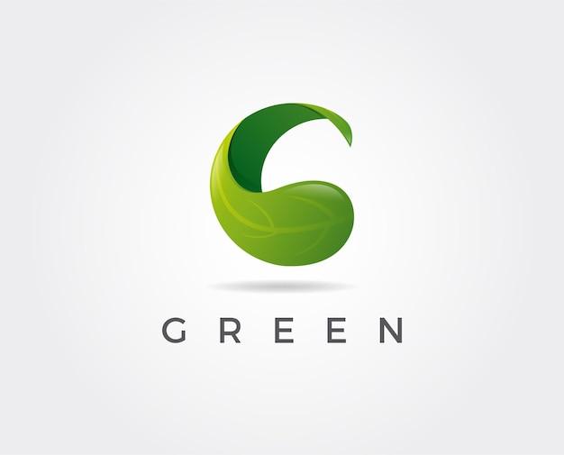 Litera g eco pozostawia logo ikona elementy szablonu projektu wektor znak koloru color