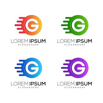 Litera g logo ikona biznes