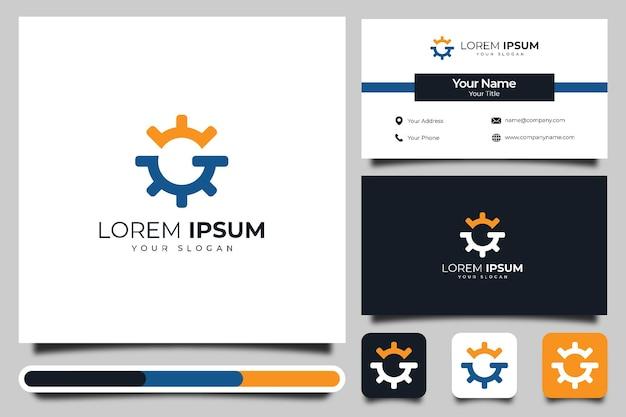 Litera g logo kreatywny projekt i szablon wizytówki