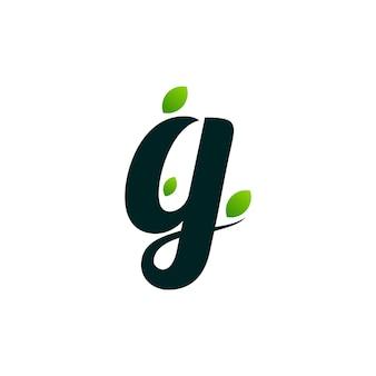 Litera g logo luksusowa ilustracja retro vintage
