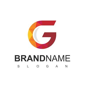 Litera g, nowoczesny szablon projektu logo